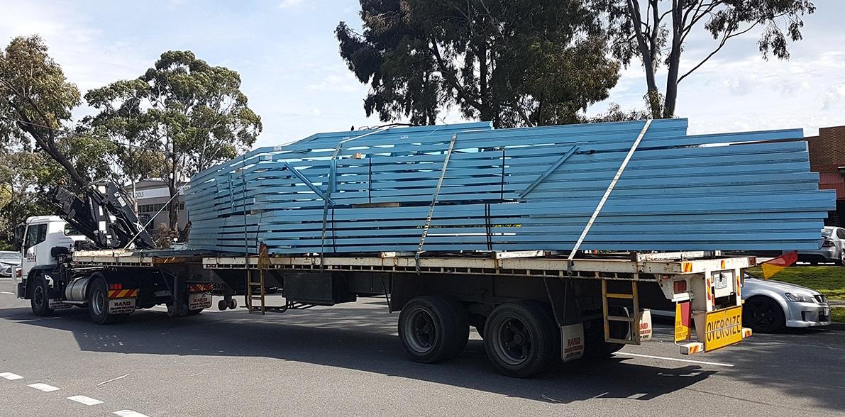 prefabricated truss panels shipping