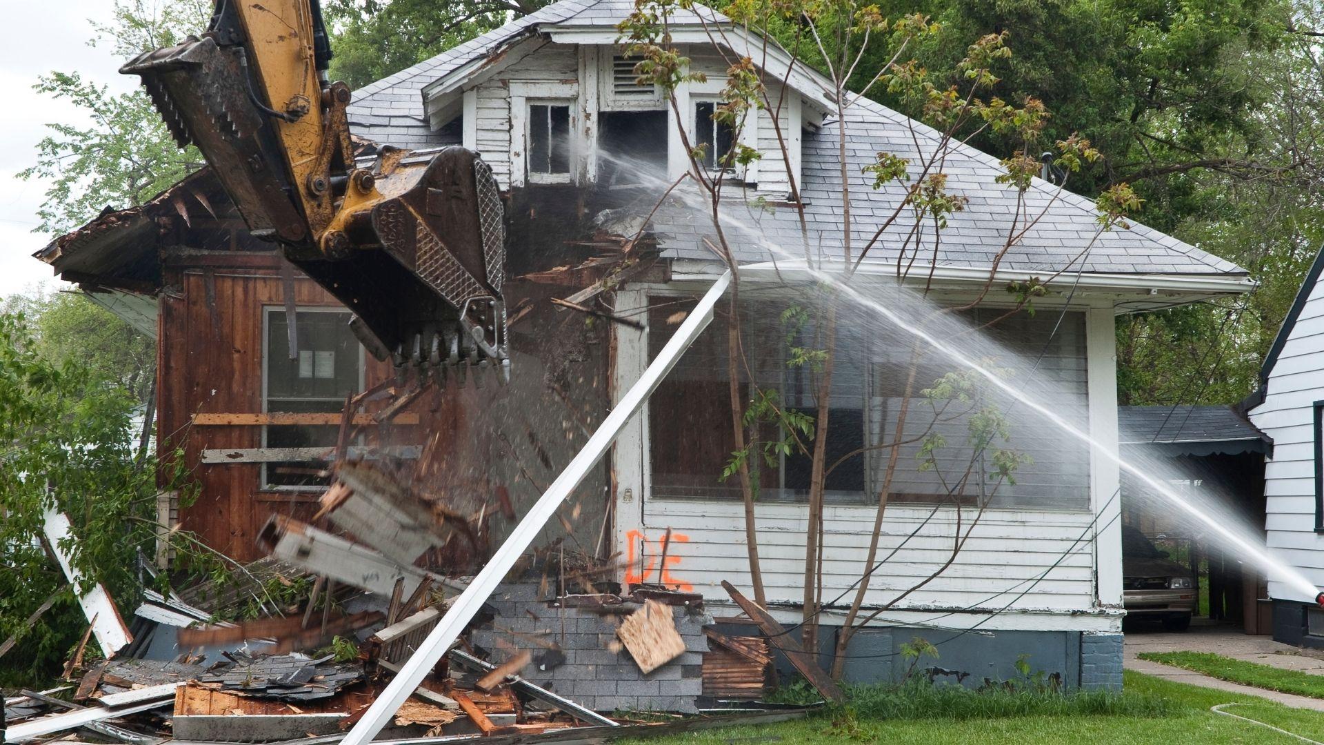 Demolition Wood Home